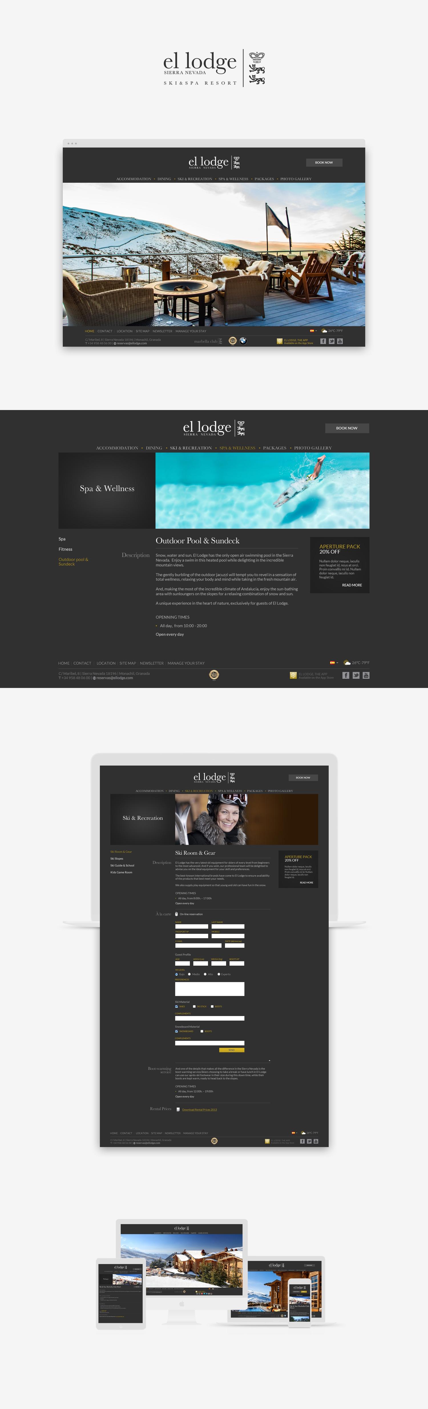 Wordpress · Diseño web · El lodge · Samuel Matito · diseñador freelance