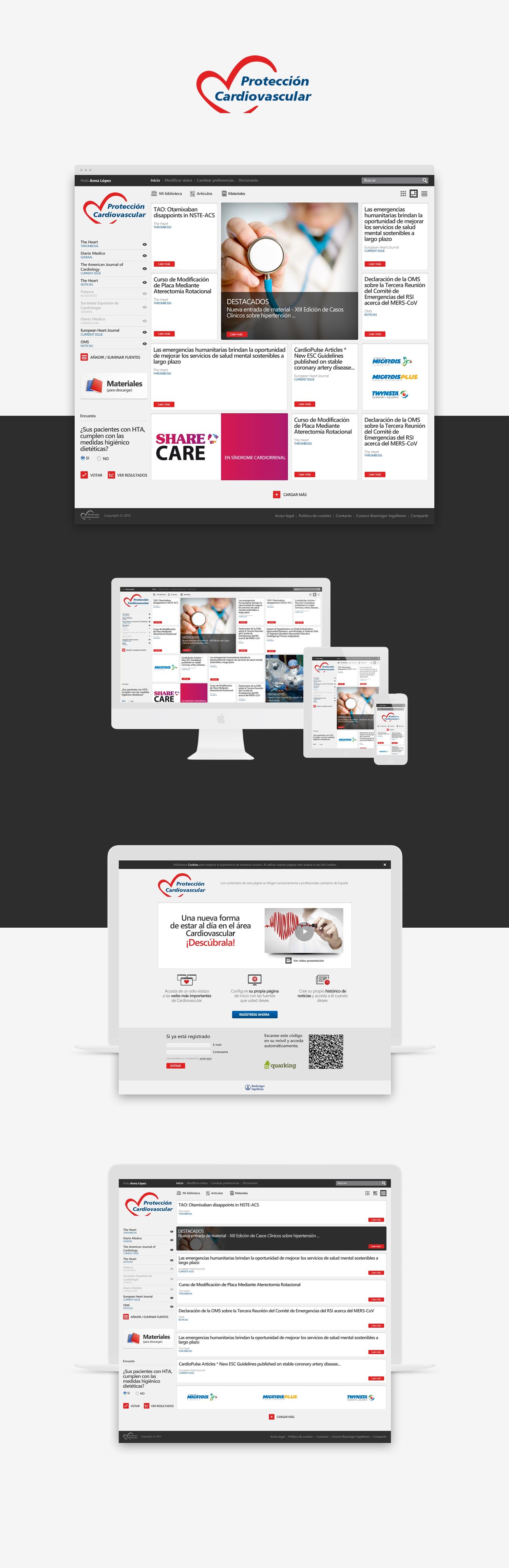 Diseñador web responsive · Protección cardiovascular · Samuel Matito · diseñador freelance