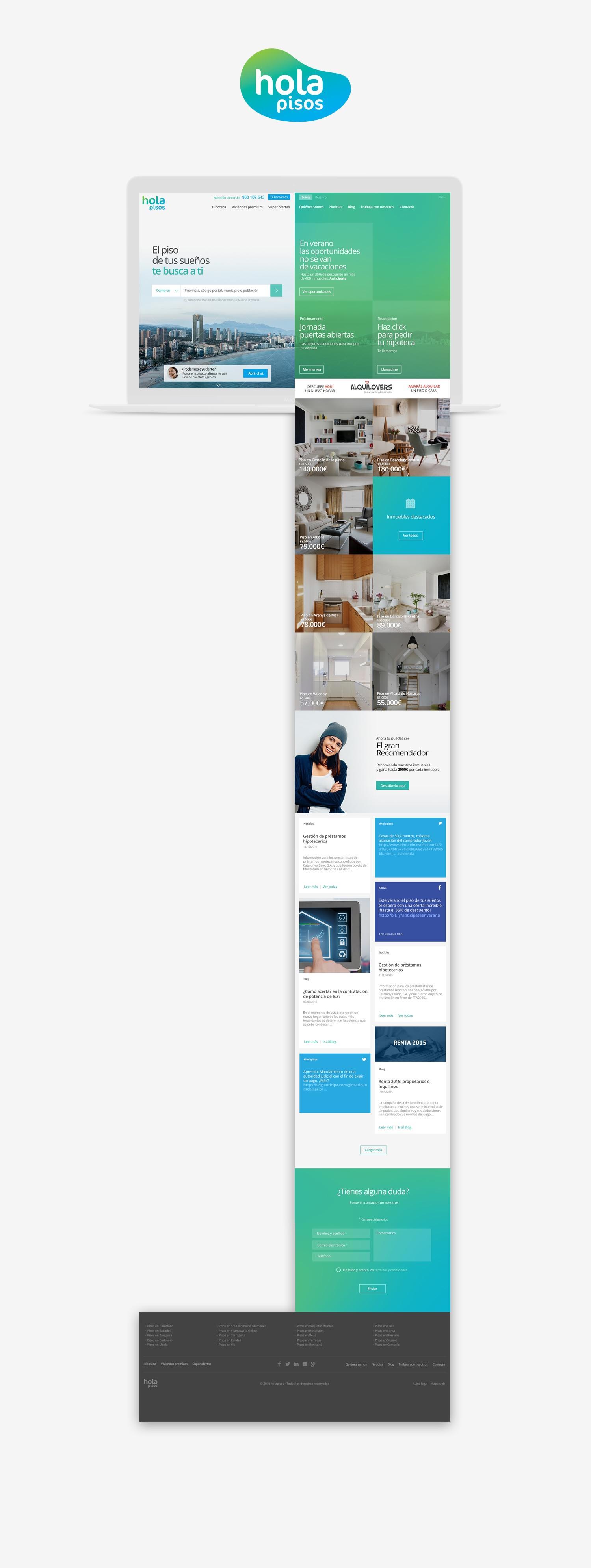 Diseño web · Hola Pisos · Samuel Matito · diseñador freelance