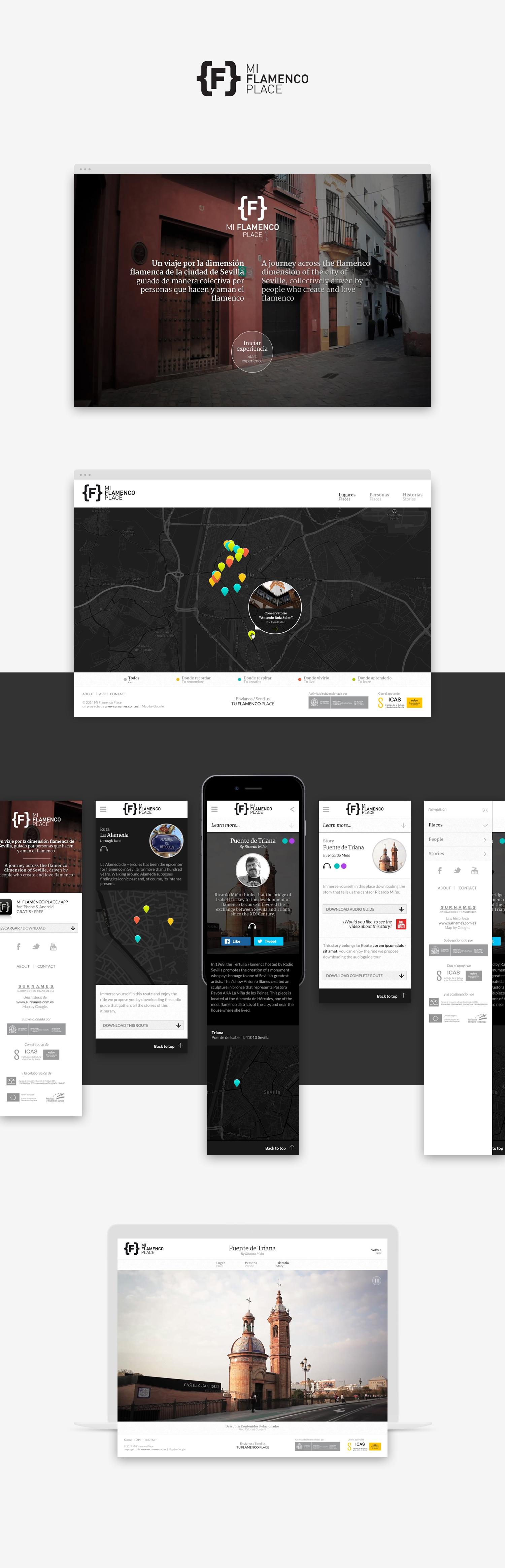 Diseño App Móvil · Mi Flamencoplace · Samuel Matito · diseñador freelance