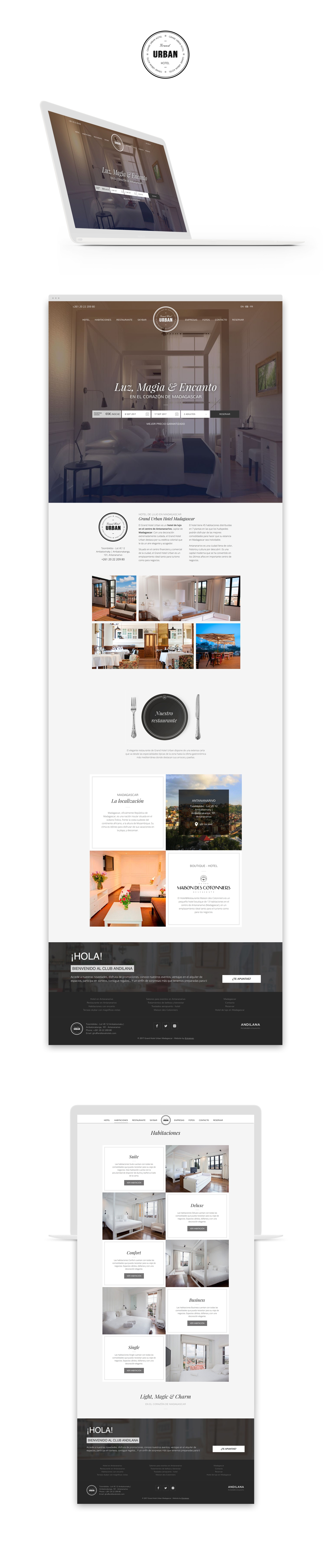 Diseño web · Grand Hotel Urban · Samuel Matito · diseñador freelance