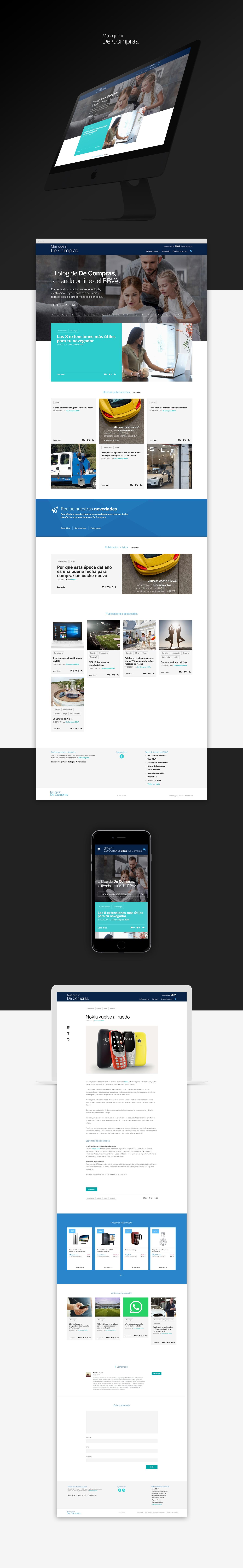 Diseño web responsive · BBVA   Más que ir de compras · Samuel Matito · diseñador freelance