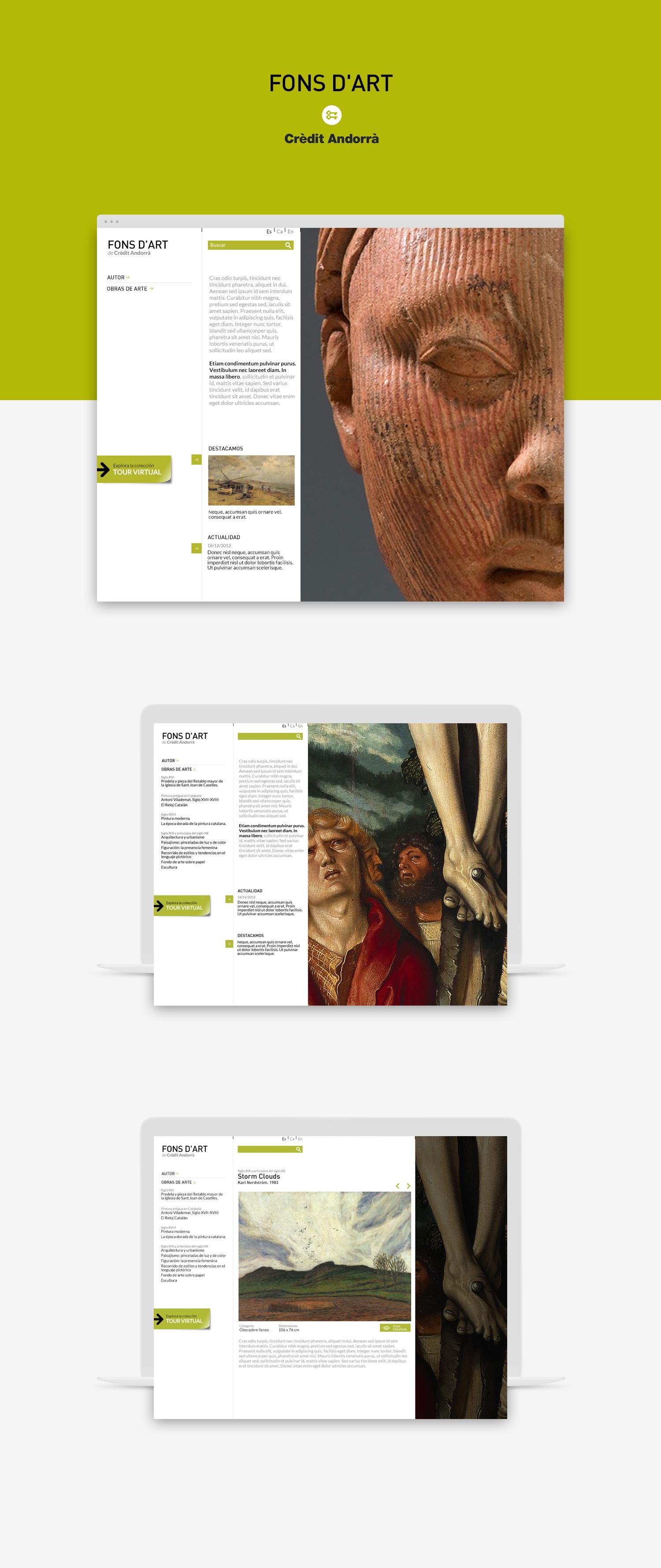 Diseñador web · Fons d'Art de Crèdit Andorrà · Samuel Matito · diseñador freelance